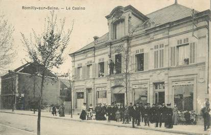 """CPA FRANCE 10 """" Romilly sur Seine, Le casino""""."""