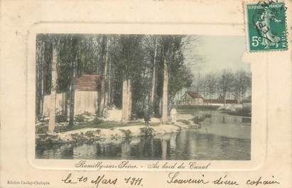 "CPA FRANCE 10 "" Romilly sur Seine, Au bord du canal""."