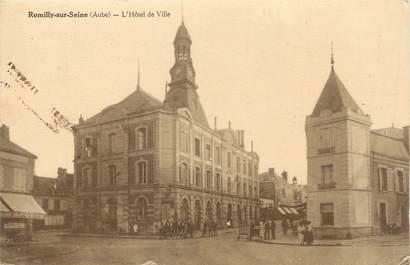 """CPA FRANCE 10 """" Romilly sur Seine, L'Hôtel de Ville""""."""
