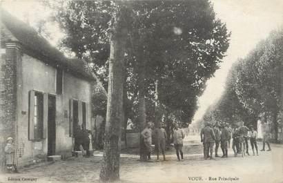 """CPA FRANCE 10 """"Voué, Rue principale""""."""