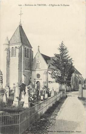"""CPA FRANCE 10 """"St Parrès, L'église""""."""