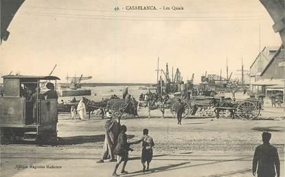 """CPA MAROC """"Casablanca, les quais"""""""