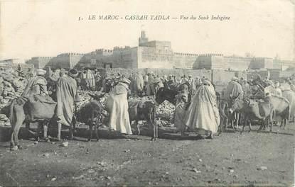 "CPA MAROC ""Casbah Tadla, le Souk indigène"""