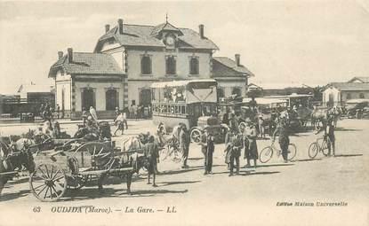 """CPA MAROC """"Oudjda, la gare"""""""
