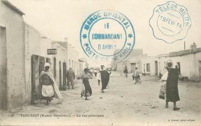 """CPA MAROC """"Taourirt, la rue principale"""""""