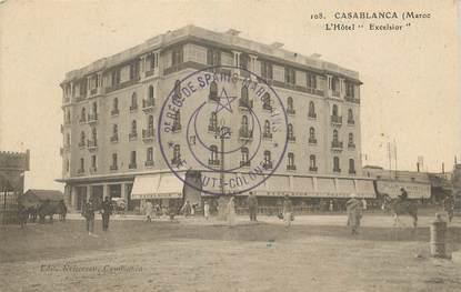 """CPA MAROC """"Casablanca, Hotel Excelsior"""""""