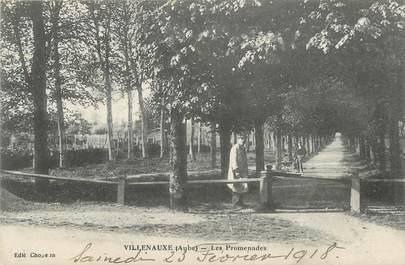 """CPA FRANCE 10 """" Villenauxe, Les promenades""""."""