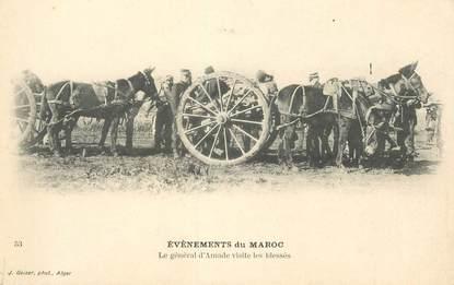 """CPA MAROC """"Le Général d'Amade visite les blessés"""""""