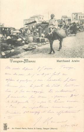 """CPA MAROC """"Tanger, marchand"""""""