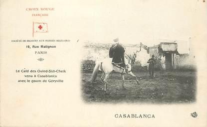 """CPA MAROC """"Casablanca"""" / CROIX ROUGE"""