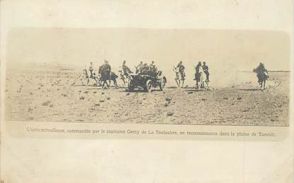 """CPA MAROC """"Auto mitrailleuse dans la plaine de Tamlelt"""""""