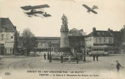 """CPA FRANCE 10 """" Troyes, La gare et le monument des enfants de l'Aube""""."""