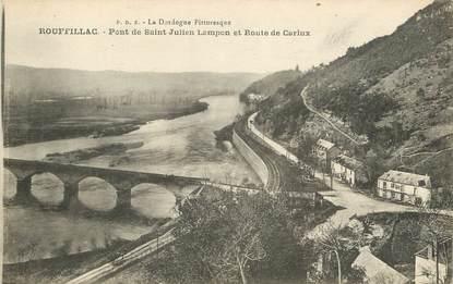 """CPA FRANCE 24 """"Rouffillac, pont de Saint Julien Lampon"""""""