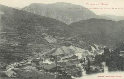 """CPA FRANCE 11 """" Axat,, Vue générale sur l'Aude et la gare""""."""