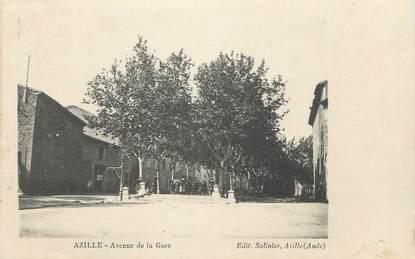 """CPA FRANCE 11 """" Azille, Avenue de la gare""""."""