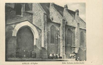 """CPA FRANCE 11 """" Azille, L'église""""."""