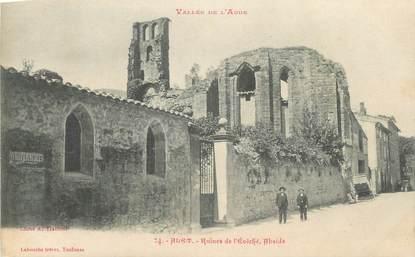 """CPA FRANCE 11 """" Alet, Ruines de l'évêché, abside""""."""
