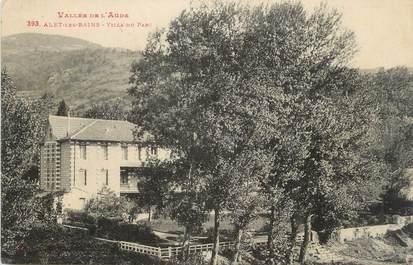 """CPA FRANCE 11 """" Alet les Bains, Villa du parc""""."""