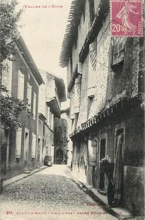 """CPA FRANCE 11 """" Alet les Bains, Vieille rue, ancien Palais de Justice""""."""