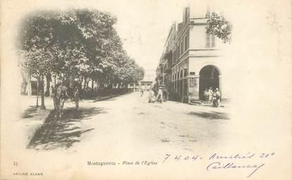"""CPA ALGERIE """"Mostaganem, place de l'Eglise"""""""