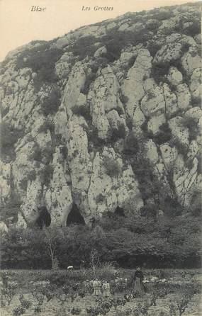 """CPA FRANCE 11 """"Bize, Les grottes""""."""