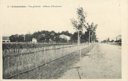 """CPA FRANCE 11 """"Cruscades, Vue générale , avenue d'ornaisons""""."""