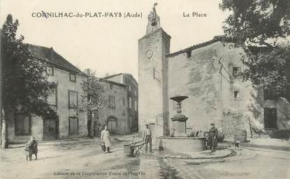 """CPA FRANCE 11 """"Conilhac du Plat Pays, La place""""."""