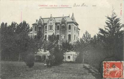 """CPA FRANCE 11 """"Cabezac, Le château""""."""