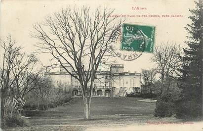 """CPA FRANCE 11 """"Près de Carlipa, Le château et le parc de Ste Gemme""""."""