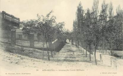 """CPA ALGERIE """"Aïn Sefra, avenue du Cercle militaire"""""""