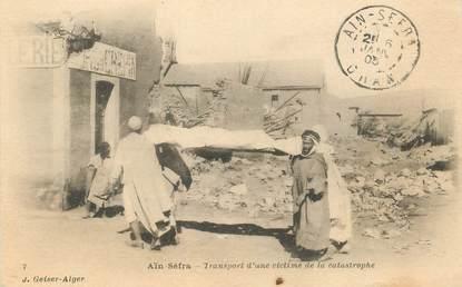 """CPA ALGERIE """"Aïn Sefra, transport d'une victime"""""""