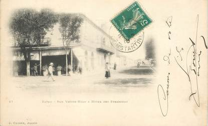 "CPA ALGERIE ""Batna, Rue Victor Hugo et Hotel des Etrangers"""