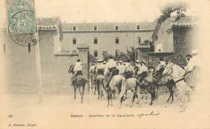"""CPA ALGERIE """"Batna, quartier de la cavalerie"""""""