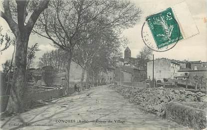 """CPA FRANCE 11 """" Conquès, Entrée du village""""."""