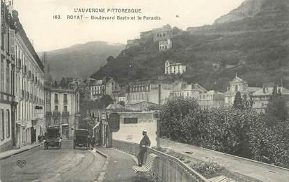 """CPA FRANCE 63  """"Royat, Bld Bazin et le Paradis"""""""