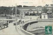 """11 Aude CPA FRANCE 11 """" Carcassonne, La gare""""."""