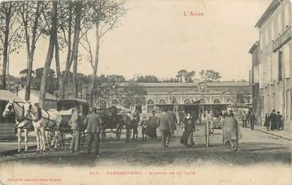 "CPA FRANCE 11 "" Carcassonne, Avenue de la gare""."