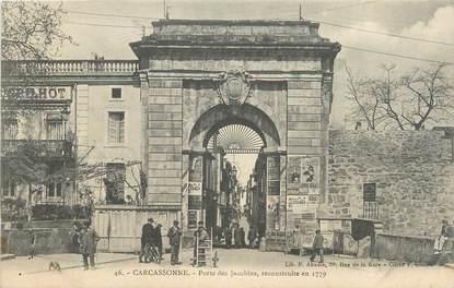 """CPA FRANCE 11 """" Carcassonne, Porte des Jacobins """"."""