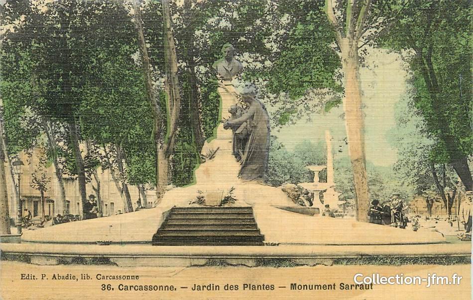 Cpa france 11 carcassonne le jardin des plantes le for Le jardin carcassonne