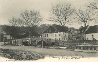 """CPA FRANCE 23 """"Chambon, Faubourg de Limoges, le vieux Pont"""""""
