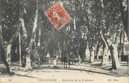 """CPA FRANCE 11 """" Carcassonne, Boulevard de la Préfecture""""."""