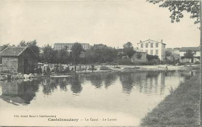 """CPA FRANCE 11 """" Castelnaudary, Le canal, le lavoir""""."""