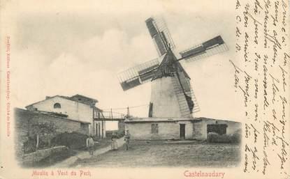 """CPA FRANCE 11 """" Castelnaudary, Moulin à vent du Pech"""". / MOULIN"""