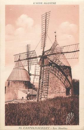 """CPA FRANCE 11 """" Castelnaudary, Les moulins""""."""