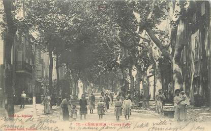 """CPA FRANCE 11 """" Chalabre, Cours Sully""""."""