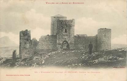 """CPA FRANCE 11 """" Chalabre, Ensemble du château de Puivert""""."""