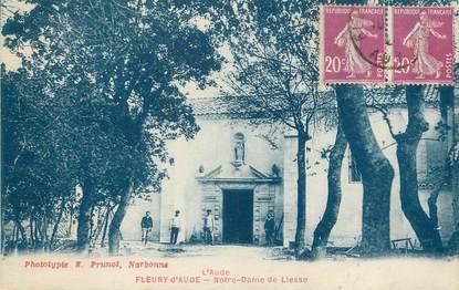 """CPA FRANCE 11 """" Fleury d'Aude, Notre Dame de Liesse""""."""