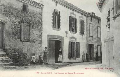 """CPA FRANCE 11 """" Fanjeaux, La maison de St Dominique""""."""