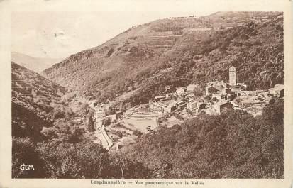 """CPA FRANCE 11 """"Lespinassière, Vue panoramique sur la vallée""""."""