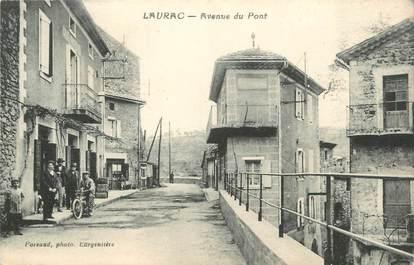 """CPA FRANCE 11 """"Laurac, Avenue du Pont""""."""